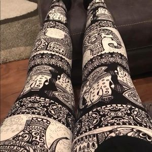Plus size Elephant Leggings Woman's Tribal